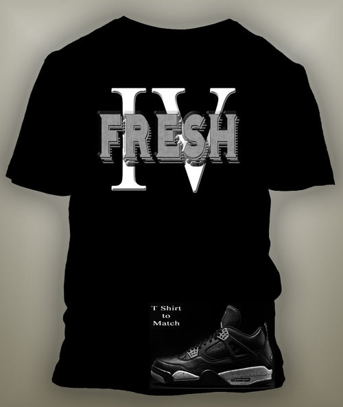 Custom Tee To Match Retro Air Jordan 4 Oreo Shoe
