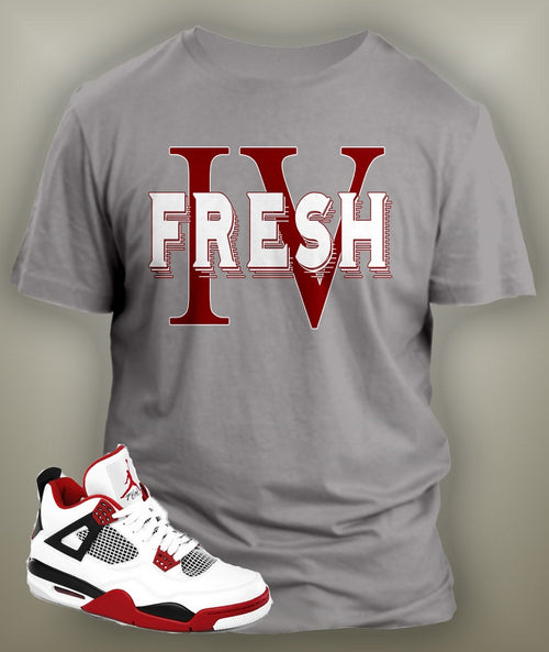 Gray T Shirt To Match Retro Air Jordan 4 Shoe
