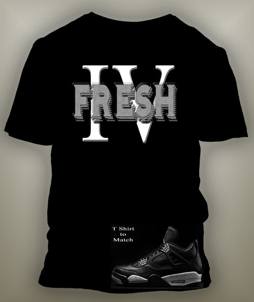T Shirt To Match Retro Air Jordan 4 Shoe Oreo Custom Fresh Tee - Just Sneaker Tees