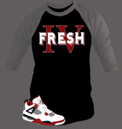 Baseball T Shirt To Match Retro Air Jordan 4 - Just Sneaker Tees - 1