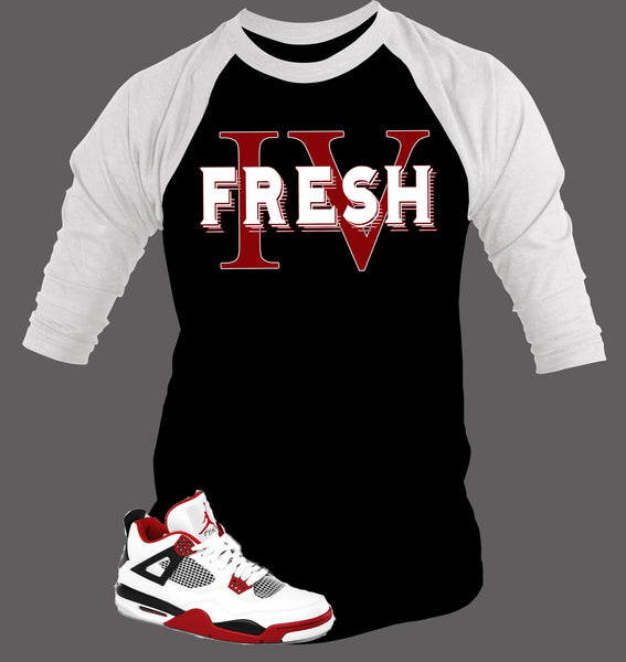 Baseball T Shirt To Match Retro Air Jordan 4 - Just Sneaker Tees - 2