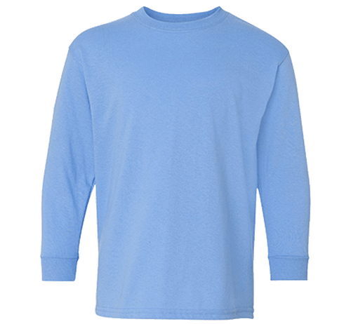 Customizable Gildan Youth 100% Cotton Long Sleeve T-Shirt