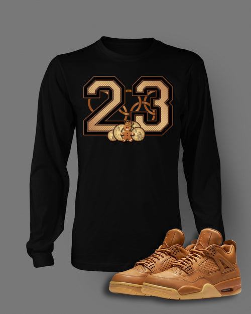 Long Sleeve Custom T-shirt To Match Retro Air Jordan 4 Ginger Golden Dollar - Just Sneaker Tees