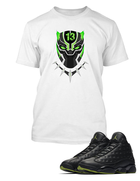 Panther Graphic T Shirt to Match Retro Air Jordan 13 High Altitude Shoe