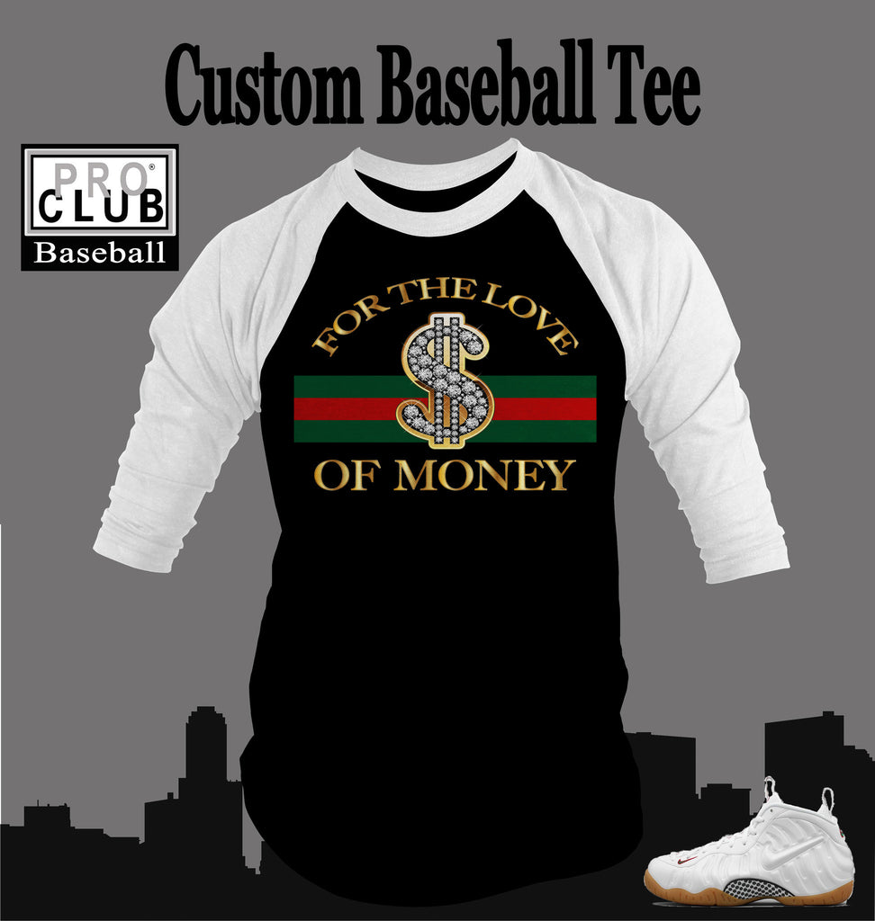 1aeb518407211c Baseball T Shirt To Match Gucci Foamposite Shoe – Vegas Big and Tall