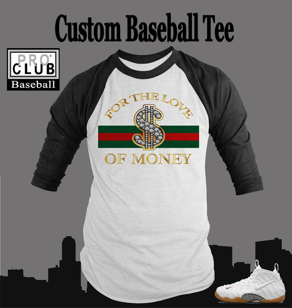 5871dcfa Baseball T Shirt To Match Gucci Foamposite Shoe – Vegas Big and Tall