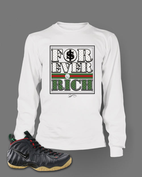 Long Sleeve T Shirt To Match Gucci Black Foamposite Shoes - Just Sneaker Tees - 2