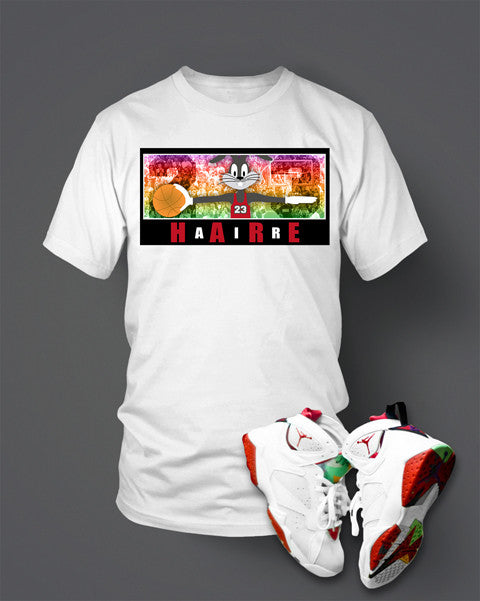 Jordan 7 Hare Air Shirt  White