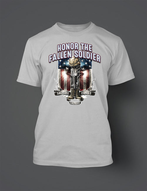New Honor the Fallen Soldier Graphic T Shirt
