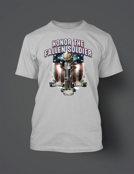Honor the Fallen Soldier Graphic T Shirt