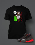Graphic Bart T Shirt to Match Retro Air Jordan 13 Bred Shoe