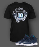 Custom T Shirt To Match Air Jordan 10 LA Shoe - Just Sneaker Tees - 1