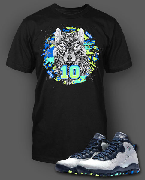 watch 28931 3d0b9 Custom T Shirt To Match Air Jordan 10 Rio Shoe - Just Sneaker Tees - 1