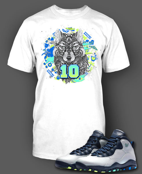 the best attitude fc02c 6d229 Custom T Shirt To Match Air Jordan 10 Rio Shoe - Just Sneaker Tees - 2