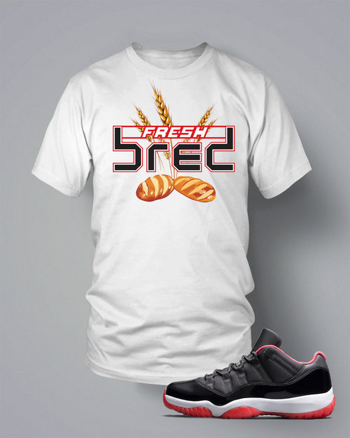 T Shirt To Match Retro Air Jordan 11 Low Top Shoe Grain Of Bred - Just Sneaker Tees