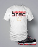 T Shirt To Match Retro Air Jordan 11 Low Top Shoe Fresh Bred - Just Sneaker Tees - 2