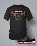 T Shirt To Match Retro Air Jordan 11 Low Top Shoe Fresh Bred - Just Sneaker Tees - 1