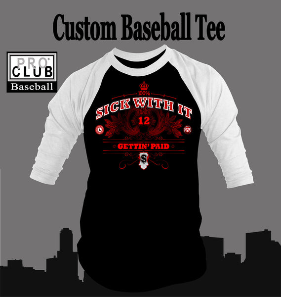 Baseball T Shirt To Match Air Jordan 12 Flu Game Shoe - Just Sneaker Tees - 1
