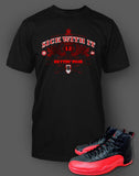 T-Shirt To Match Retro Air Jordan 12 Flu Game Shoe