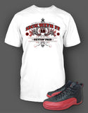 T Shirt To Match Retro Air Jordan 12 Flu Game Shoe