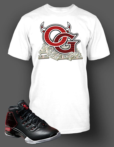 T Shirt To Match Retro Air Jordan 17 Bred Shoe