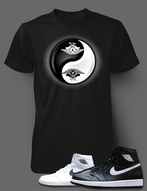 T Shirt To Match Retro Air Jordan 1 Shoe Ying Yang - Just Sneaker Tees - 1