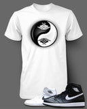 T Shirt To Match Retro Air Jordan 1 Shoe Ying Yang - Just Sneaker Tees - 3