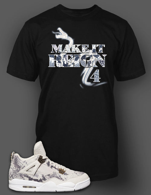 T Shirt To Match Retro Air Jordan 4 Snake Skin Shoe - Just Sneaker Tees - 2