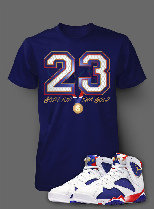 Custom T Shirt To Match Air Jordan 7 Olympic Shoe - Just Sneaker Tees - 1