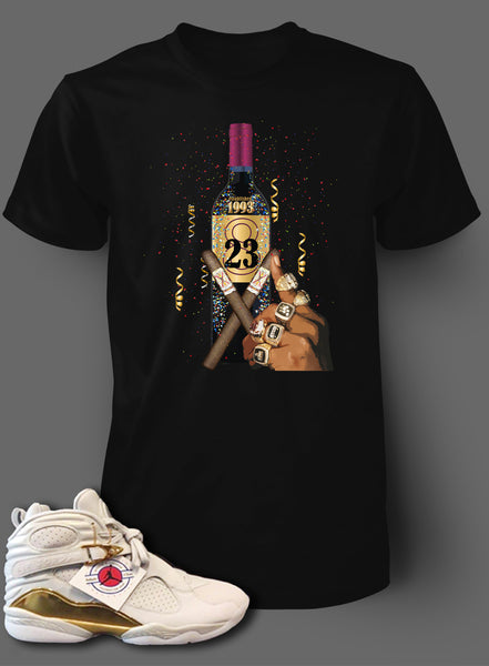 T Shirt To Match Retro Air Jordan 8 Shoe Championship Tee - Just Sneaker Tees - 1