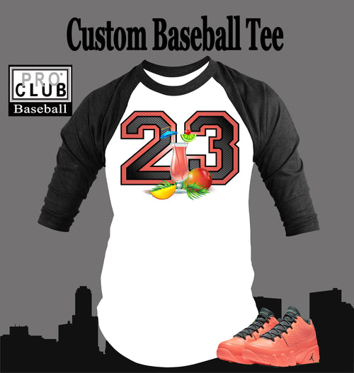 Baseball T Shirt to Match Air Jordan 9 Mango Shoe - Just Sneaker Tees