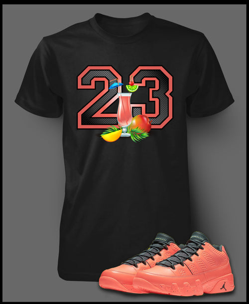 Custom T Shirt To Match Air Jordan 9 Mango Shoe - Just Sneaker Tees - 1