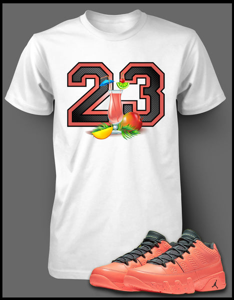 san francisco e08a3 7253d Graphic T Shirt To Match Retro Air Jordan 9 Mango Shoe