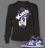 Long Sleeve T shirt To Match Air Jordan 1 High Feng Shui - Just Sneaker Tees - 1