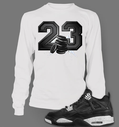 Long Sleeve Custom T-shirt To Match Retro Air Jordan 4 Oreo - Just Sneaker Tees - 2
