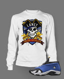 Long Sleeve Custom T-shirt To Match Retro Air Jordan 14 Low Laney - Just Sneaker Tees - 2