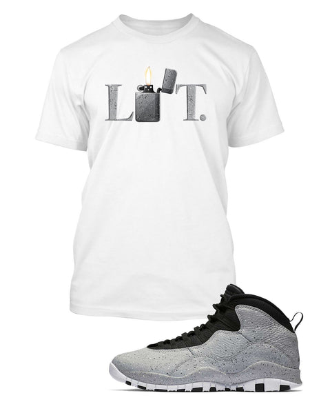 New Graphic T Shirt to Match Air Jordan 10 Retro Light Smoke Shoe