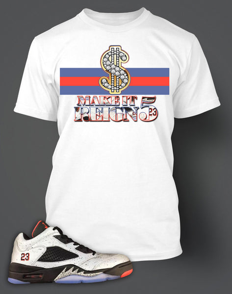 finest selection 80425 2e932 T Shirt To Match Retro Air Jordan 5 Low Neymar Shoe
