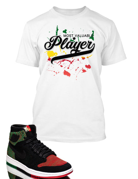 MVP Graphic T Shirt to Match Retro Air Jordan 1 High Flynit BHM Shoe