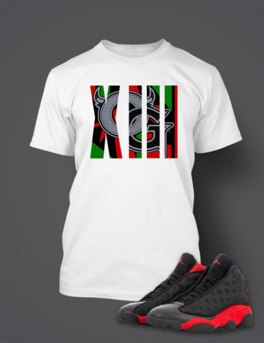 OG T Shirt to Match Retro Air Jordan 13 Bred Shoe
