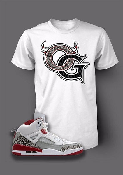 Graphic OG T Shirt To Match Retro Air Jordan 5 Spizike White Cement Shoe