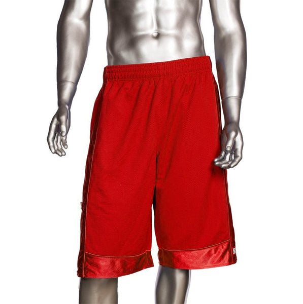 Mens Pro Club Mesh Jersey Basketball Shorts Small to 7XL Red - Just Sneaker Tees - 1