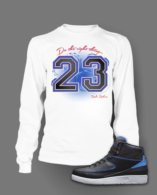 Long Sleeve T Shirt To Match Air Jordan 2 Radio Raheem Shoe - Just Sneaker Tees - 2