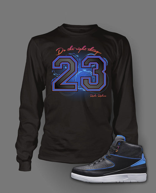 Long Sleeve T Shirt To Match Air Jordan 2 Radio Raheem Shoe - Just Sneaker Tees - 1