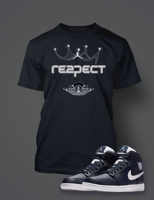 Graphic Respect T Shirt To Match Retro Air Jordan 1 High Jeter Shoe