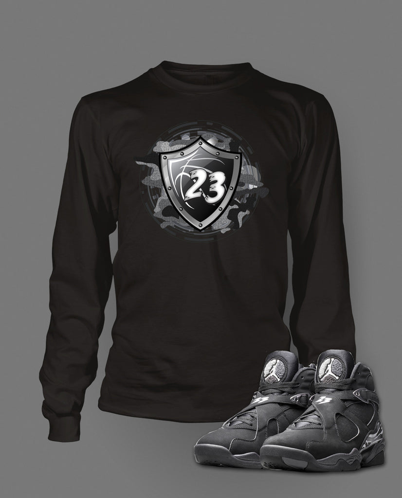 low priced 8cac4 54e2e ... stay tuned Long Sleeve T Shirt To Match Retro Air Jordan 8 Chrome Shoe  ...