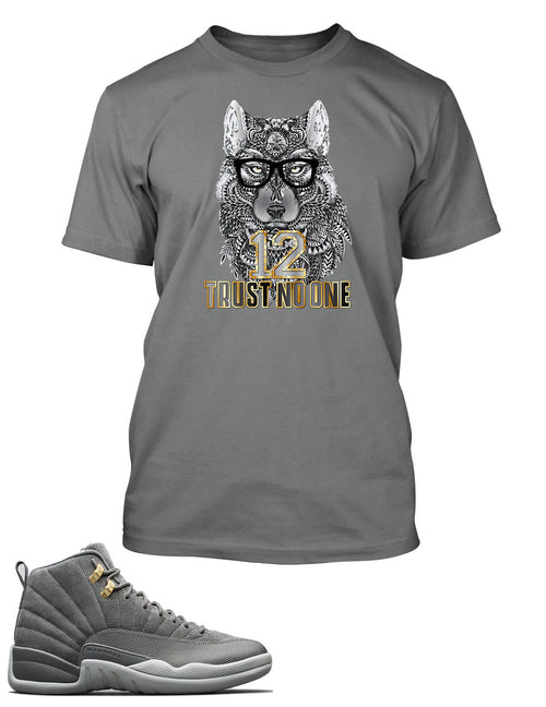 New Wolf, Never Trust No One Graphic T Shirt to Match Retro Air Jordan 12 Shoe