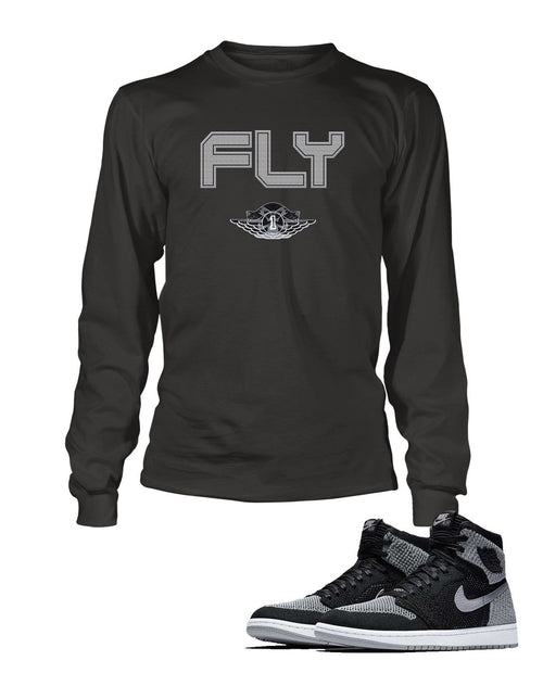 Fly One Graphic T Shirt to Match Retro Air Jordan 1 Shoe