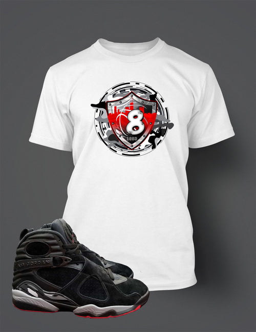 T Shirt to Match Retro Air Jordan 8 Alternate Bred Shoe