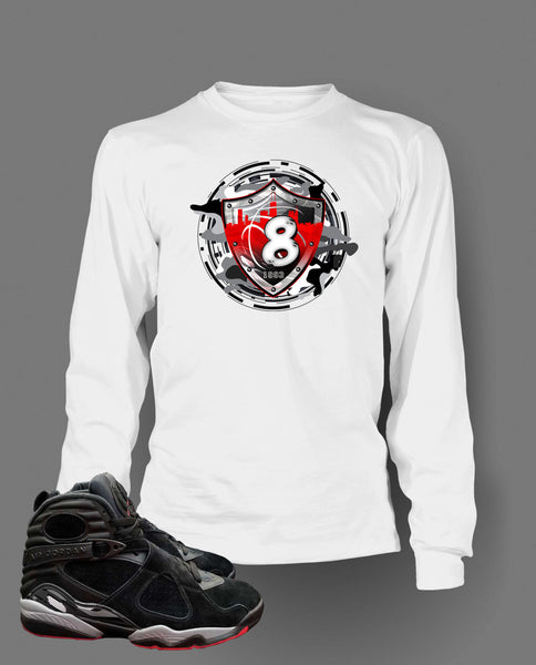 Graphic T Shirt to Match Retro Air Jordan 8 Alternate Bred Shoe